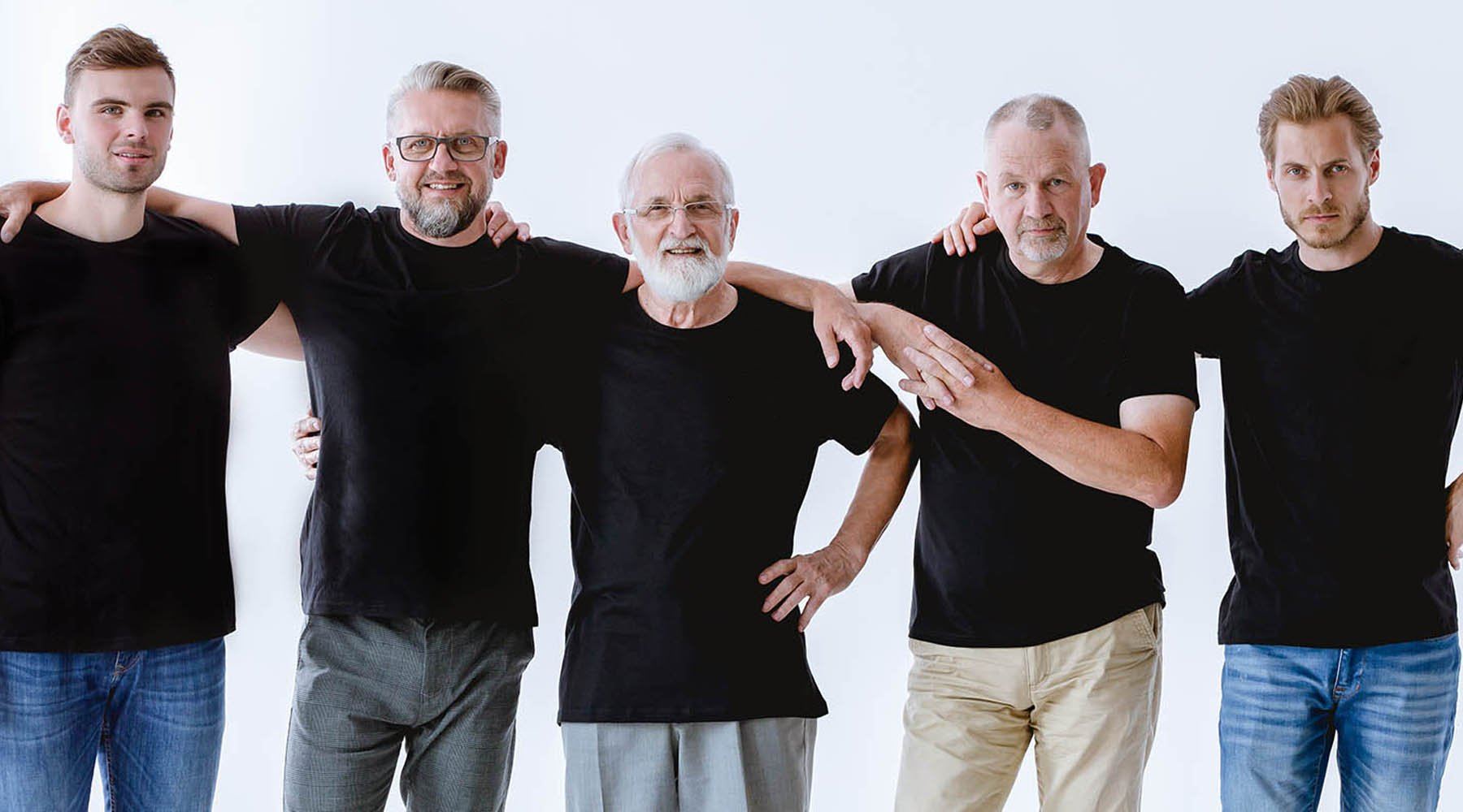 Group of men all ages